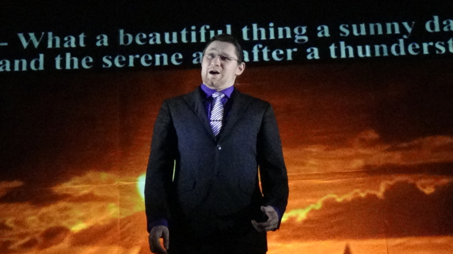"Lyrical Opera Theater's ""Heart's Song"" concert. Joshua Jensen sings ""O sole mio"""