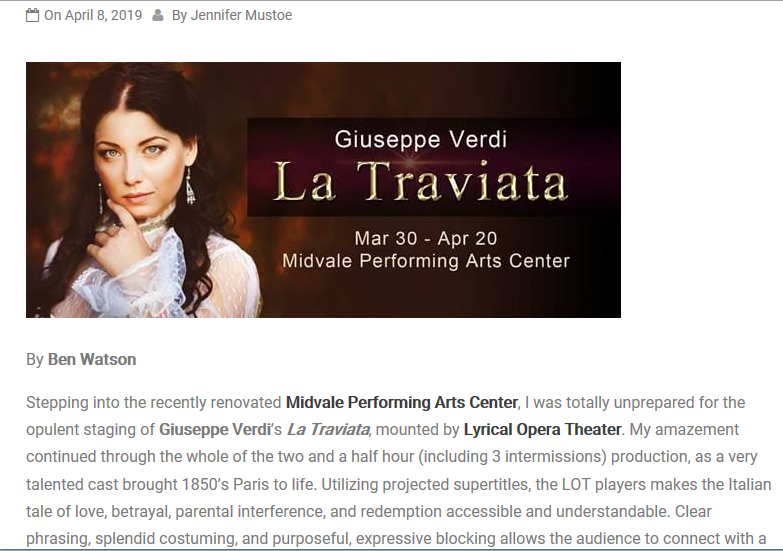 La Traviata review