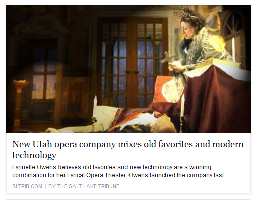 Tosca in Salt Lake Tribune
